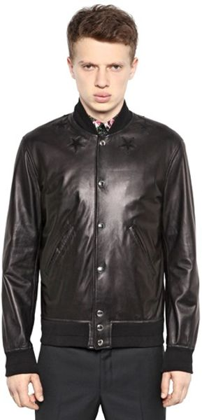 Givenchy Nappa Leather Jacket - Lyst