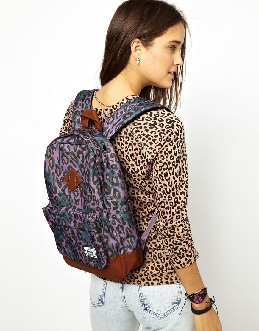 Lyst - Herschel Supply Co. Heritage Mid Volume Backpack in Purple 650ace10f8fb3