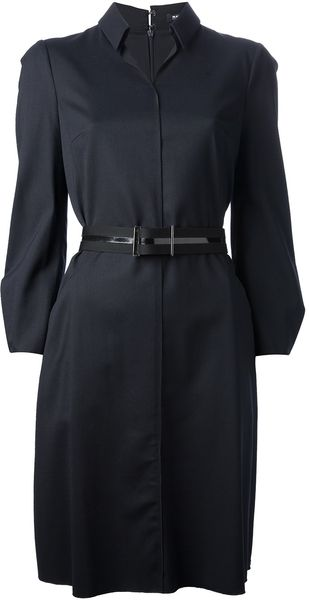 Jil Sander Navy Shirt Dress - Lyst