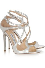 Jimmy Choo Lance Metallic Leather Sandals - Lyst