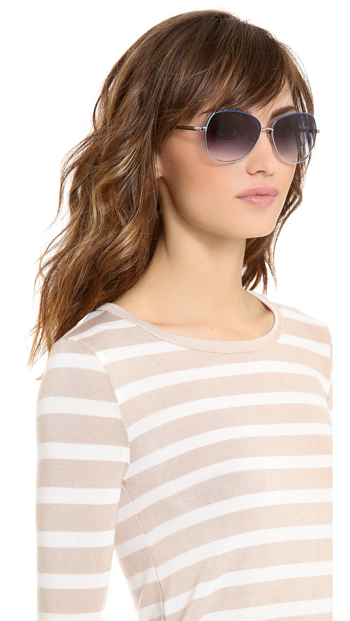 Lyst Kate Spade New York Candida Sunglasses In Metallic