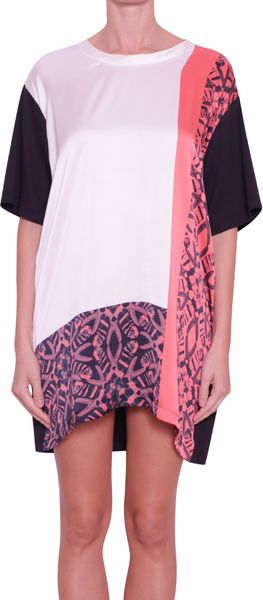 Laneus Cotton and Silk Dress - Lyst