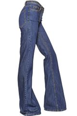 Maurizio Pecoraro Flared Cotton Denim Jeans - Lyst