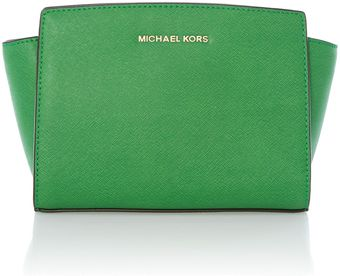 Michael Kors Selma Small Green Cross Body Bag - Lyst