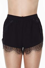 Nasty Gal Secret Lover Lace Shorts
