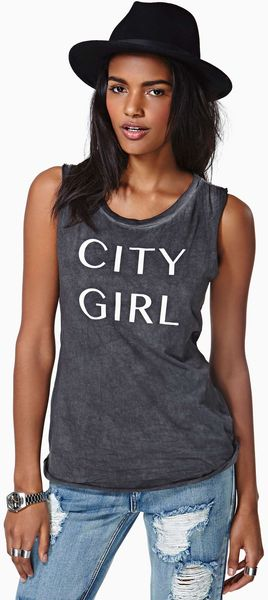 Nasty Gal Project Social T City Girl Tank - Lyst