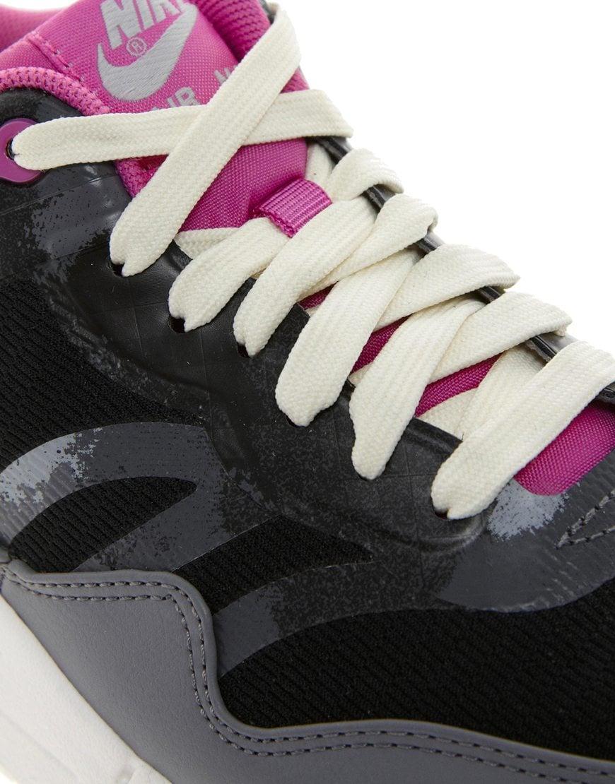 Lyst Nike Air Max 1 Cmft Prm Tape Black Trainers in Black