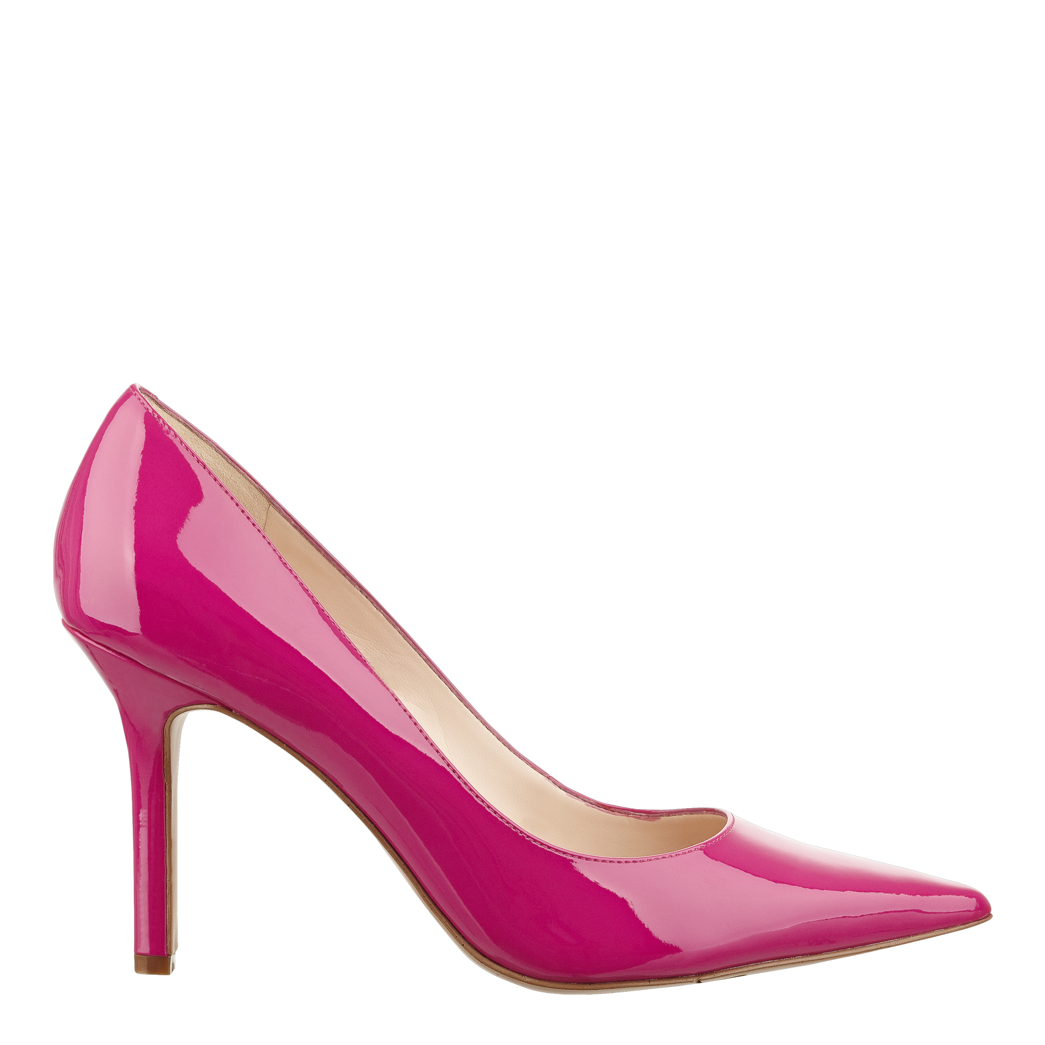 nine west martina pointy toe in pink pink synthetic