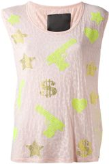 Philipp Plein Gem Embellished Vest Top - Lyst