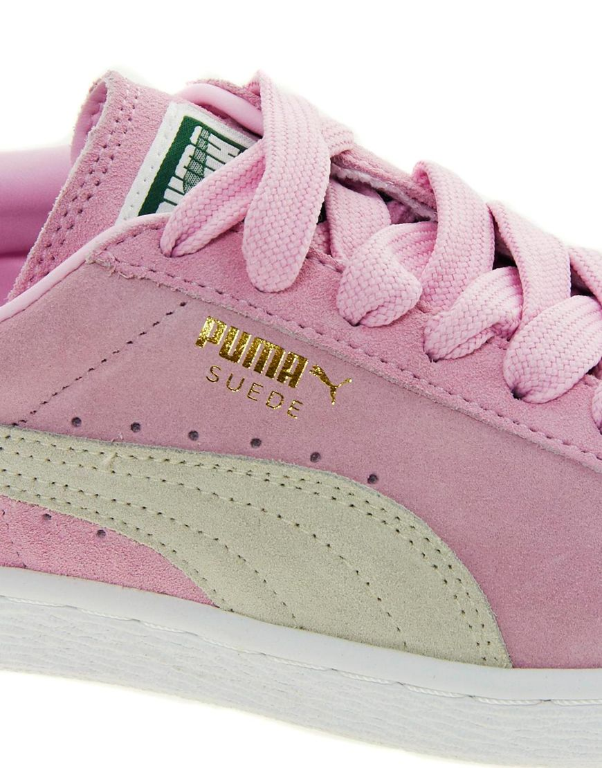 Lyst - PUMA Suede Classic Baby Pink Sneakers in Pink bde613f55