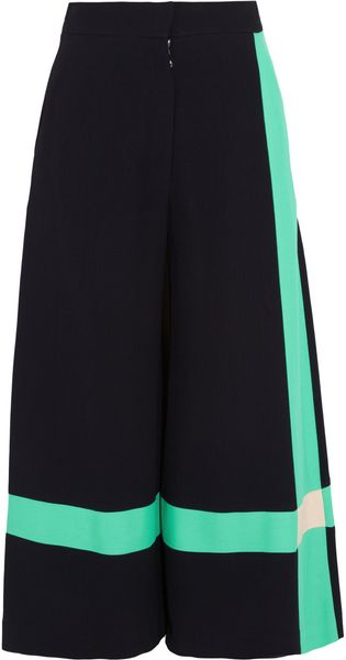 Roksanda Ilincic Craven Crepe and Cotton Culottes - Lyst