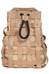 Salar Jules Woven Leather Backpack with Studs - Lyst