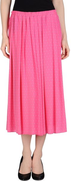 Silk And Soie 3/4 Length Skirt - Lyst