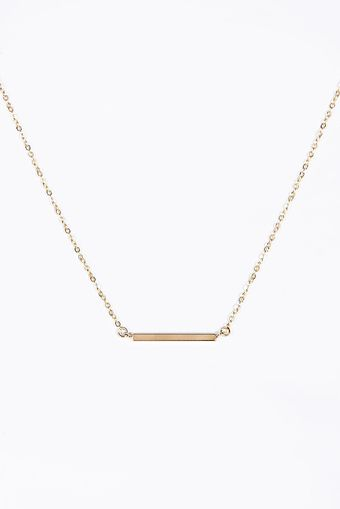 Urban Outfitters Bar Necklace in Silver - Lyst