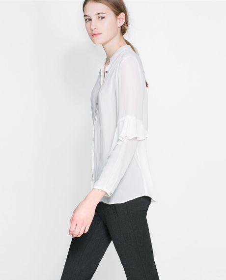 Zara Ruffle Sleeve Blouse 111