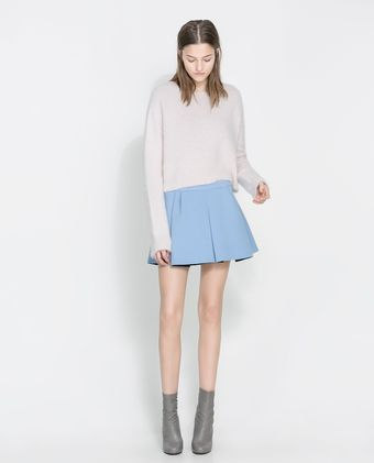 Zara Pleated Mini Skirt - Lyst
