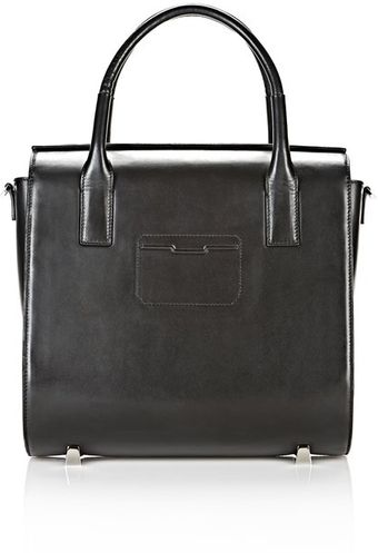 Alexander Wang Chastity Large Satchel in Shiny Black with Rhodium - Lyst