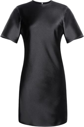 Alexander Wang Bias Cut Tshirt Dress with Center Back Fringe - Lyst