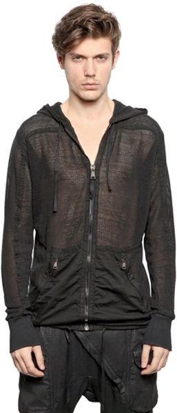 Alexandre Plokhov Hooded Cotton Net Sweatshirt - Lyst