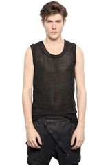 Alexandre Plokhov Perforated Cotton Fleece Tank Top - Lyst