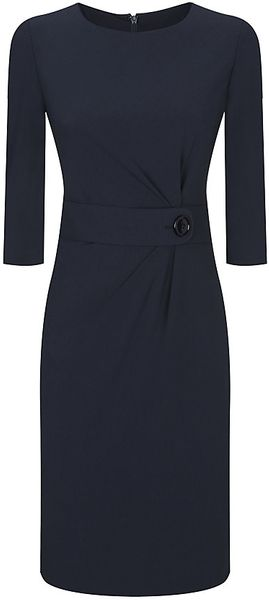Armani Asymmetric Belt Dress - Lyst