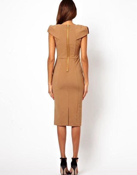 Brown Pencil Dress Asos Pencil Dress With