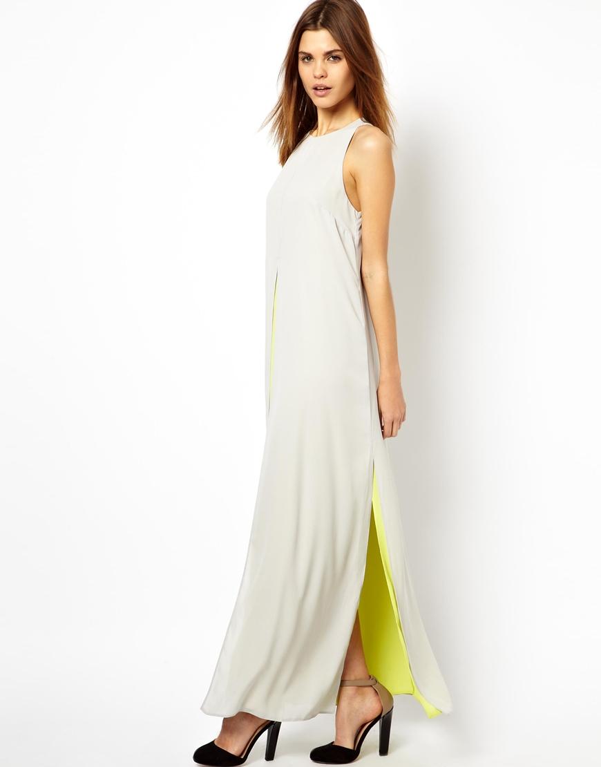 Contrast maxi dresses