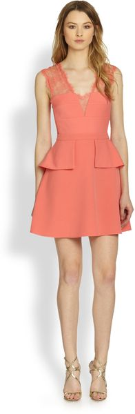 BCBGMAXAZRIA Leann Sleeveless Peplum Dress - Lyst