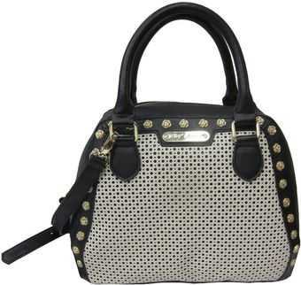 Betsey Johnson Tuxedo Junction PVC Bowler Satchel - Lyst