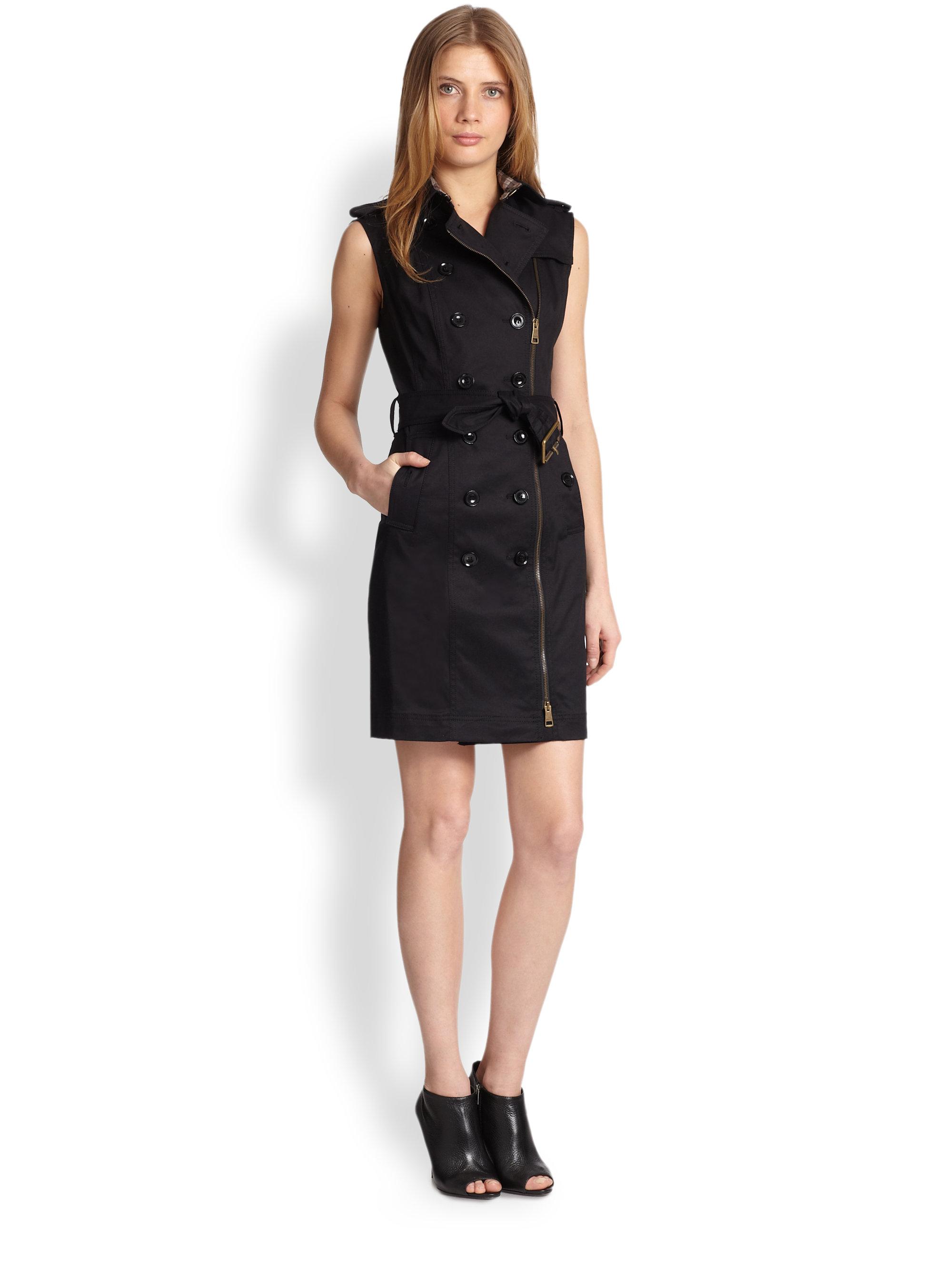 Burberry brit Elisabeth Trenchcoat Dress in Black | Lyst