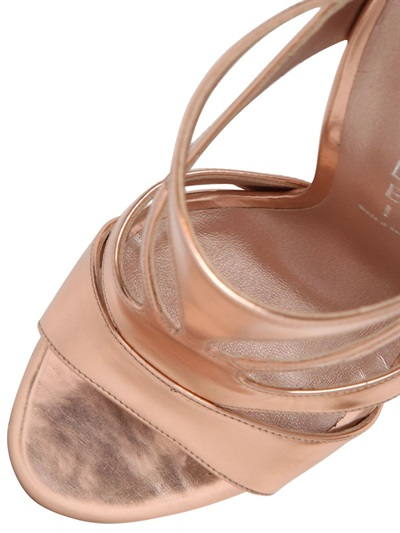 Casadei 110mm Metallic Leather Pumps In Pink Lyst
