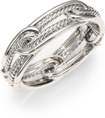 David Yurman Sterling Silver Interlocked Cuff Bracelet - Lyst