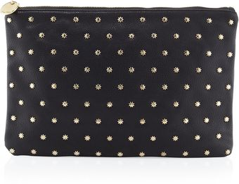 Deux Lux Star Gazer Pebbled Pouch Bag Black - Lyst