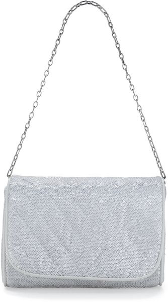 Eric Javits Jaz Quilted Sequin Shoulder Bag White - Lyst