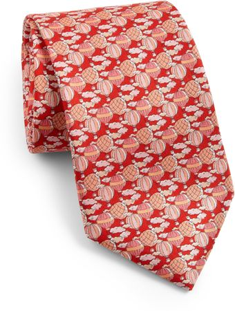 Ferragamo Hot Air Balloon Print Tie - Lyst