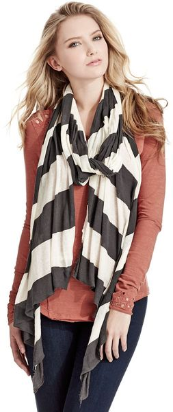 Free People Lightweight Striped Scarf - Lyst