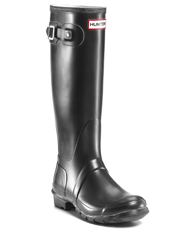 Hunter Rain Boots - Original Tall in Black   Lyst
