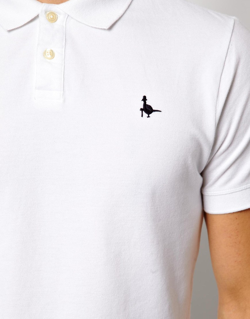 dd26b694196 Jack Wills Polo with Pheasant Logo in White for Men - Lyst