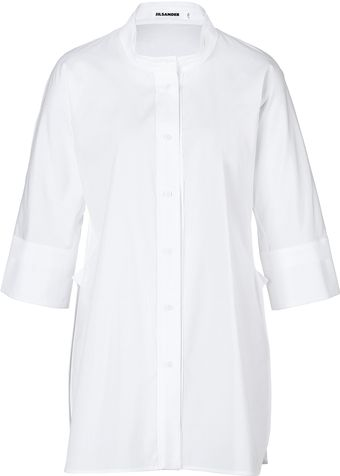 Jil Sander Cotton Tunic Top - Lyst