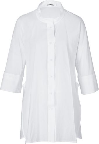 Jil Sander Cotton Linen Tunic Top - Lyst