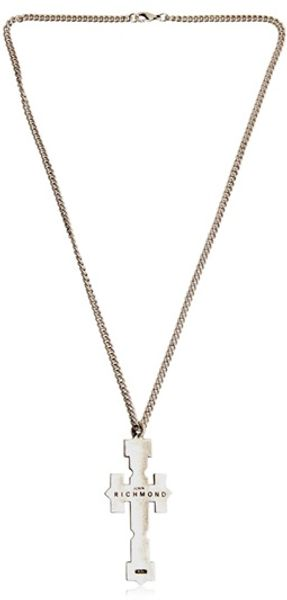 John Richmond Cross Pendant Necklace - Lyst