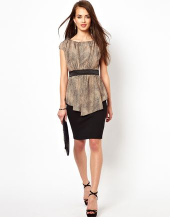 Little Mistress Dress in Snake Skin Print - Lyst