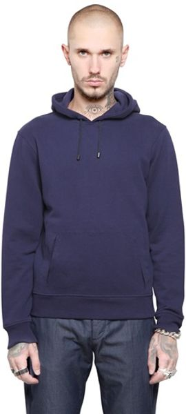 Maison Martin Margiela Cotton Fleece Hooded Sweatshirt - Lyst
