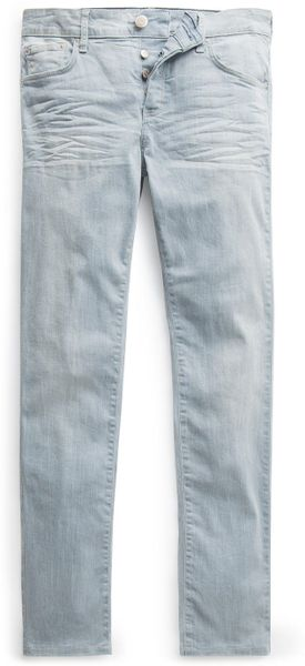 Mango Slimfit Light Wash Tim Jeans - Lyst