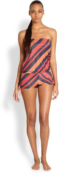 Marc By Marc Jacobs Cory Striped Short Jumpsuit - Lyst