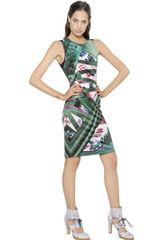 Mary Katrantzou Graphic Shoe Printed Silk Jersey Dress - Lyst