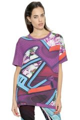 Mary Katrantzou Graphic Shoe Printed Silk Jersey T-shirt - Lyst