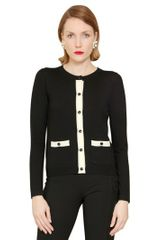 Moschino Cheap&chic Two Tone Wool Cardigan - Lyst