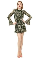 Moschino Cheap&chic Daisy Print Silk Georgette Dress - Lyst