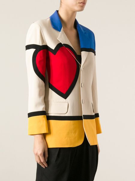 Moschino Mondrian Jacket In Brown Lyst